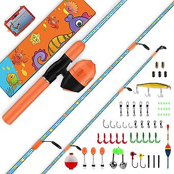 Kid's Fishing Rod and Reel Combo, Unique Design With X-Warping Painting