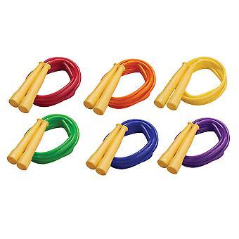 Corda di salto veloce liquirizia, 8' con maniglie gialle