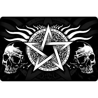 Grindstore Skull Pentagram Plaque