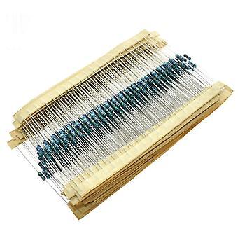 Resistance 1% Kinds Each Value Metal Film Resistor Assortment Kit 100r 1k 47k