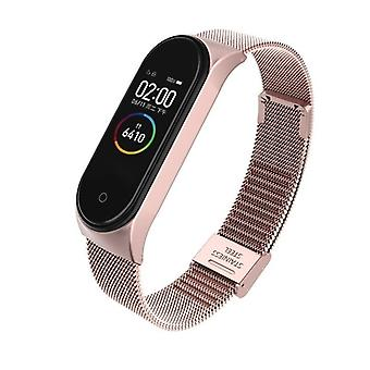 Wrist Metal Bracelet, Screwless Stainless Steel Mi Band 4/3/5 Strap Wristbands