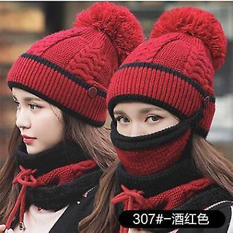Talvinen naamio kaulus kasvot suoja huivi Balaclava neulottu hattu