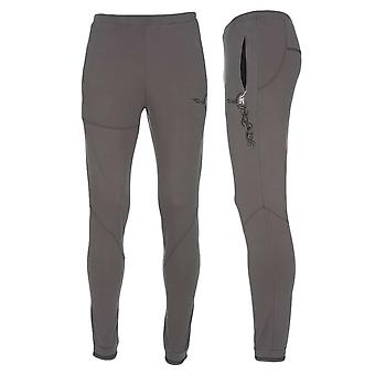 Men's Sacred Tattoo Slim Fit Mens Yoga Pants, Grey, White