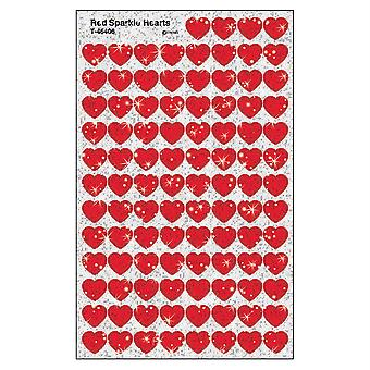 Red Sparkle Hearts Supershapes Stickers-Sparkle, 400 Ct