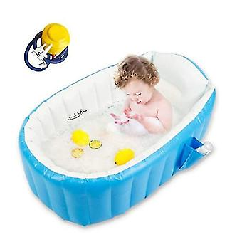Baby Inflatable Bathtub, Goodking Portable Infant Toddler Bathing Tub Non Slip Travel Bathtub