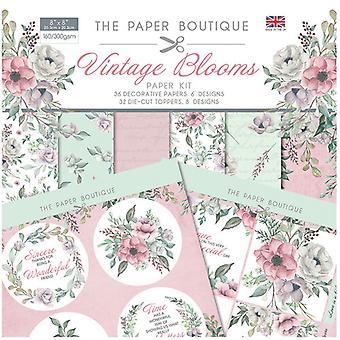 The Paper Boutique - Vintage Blooms Collection - Paper Kit