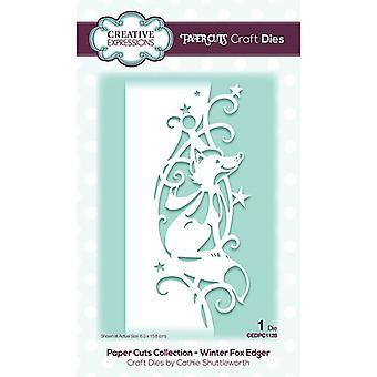 Creative Expressions Paper Cuts Collection - Joulun leikkaus kuolee - Winter Fox Edger