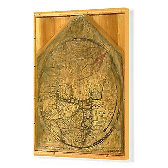 Mappa Mundi, n. 1290 (vellum). Ruutupohjan tulostus. BAL62567 Mappa Mundi, n. 1290 (vellum) kirjoittanut Richard.