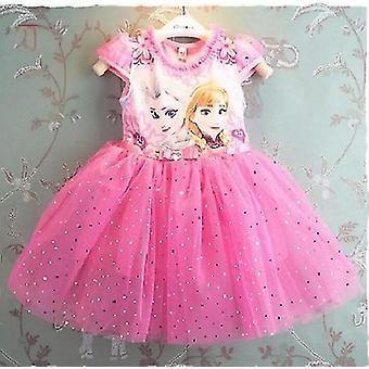 Anna Elsa - Prinzessin Party Kostüm, Schneekönigin, Fantasy Kleider & Cape Vestido