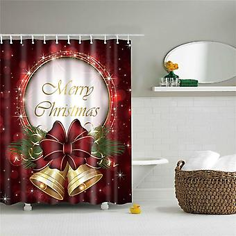 Merry Christmas Trees Snowman Shower Curtains, Fabric Polyester Waterproof Bath