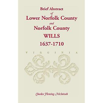 (Brief Abstract Of) Lower Norfolk County & Norfolk County Wills -