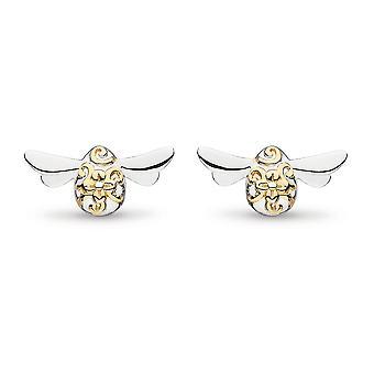 Kit Heath Blossom Flyte Honey Bee Gold & Rhodium Stud Earrings 40338GRP