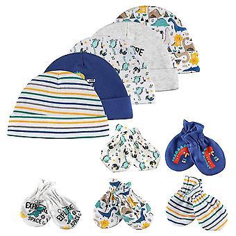 Vauvan hattu ja lapaset korkki, sukat mukava hattu & hanskat puuvilla, vauvan asusteet