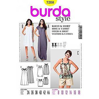 Burda Ladies Couture Pattern 7200 - Misss Dress & T-Shirt Tailles: 8-18