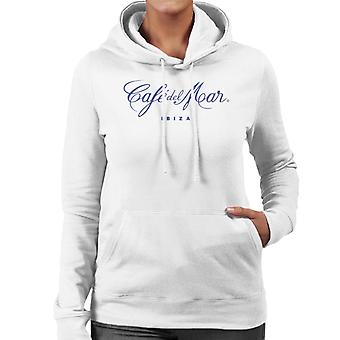Cafe del Mar Classic Blue Logo Women's Hooded Sweatshirt