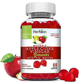 """Herbion Naturals Organic Apple Cider Vinegar Gummies with the """"Mother"""", Made in the USA, 60 Count"""