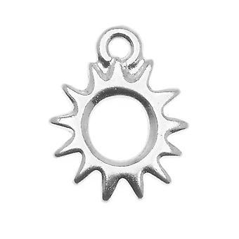TierraCast Rhodium Plattiertes Zinn Strahlender Sonnenzauber 14,2 mm (1)