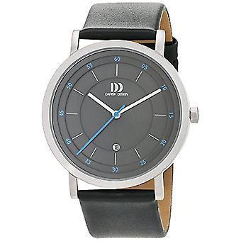 Deense design analoge horloge quartz mannen met lederen riem 3314530