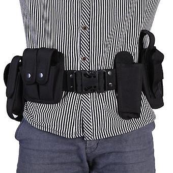 Taktisk polis säkerhetsvakt utrustning plikt verktyg kit bälte med påsar system hölster utomhus träning svart