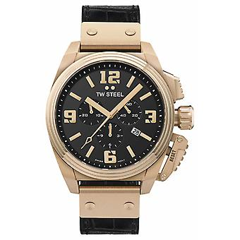 TW Steel Canteen PVD Plated Gold Stainless Steel TW1014 Watch
