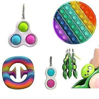 Rodent pioneer keychain grip device edamame decompression venting toy combination set x656