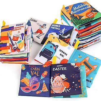 Éducatif Soft Cloth Book Bébé 0 12 Mois Montessori Infant Précoce Cognitif