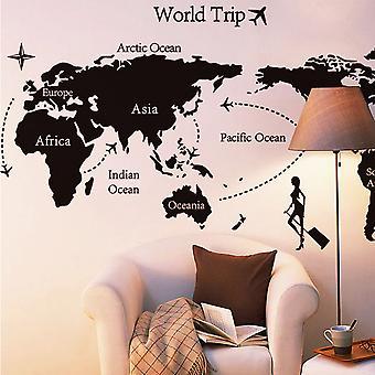 Regenboghorn World Map Theme Wall Decal Sticker AY9134