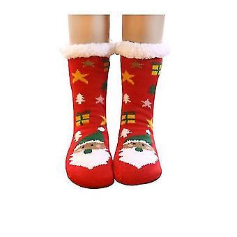 Group6 2 pcs גרביים החורף מטושטש גרביים חלקלק חם גרביים מטושטש x1066