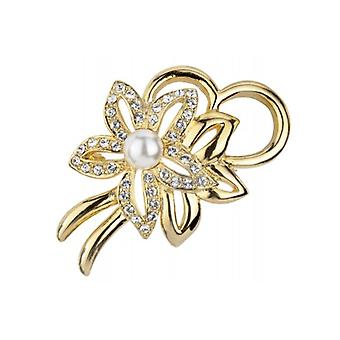 Traveller Brooch - 22 Carat Gold-plated - White Pearl - 157364 - 982