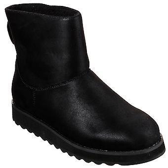 Womens Skechers Keepsakes 2.0 Cloud Peak Faux Fur Warm Flat Ankle Boots -