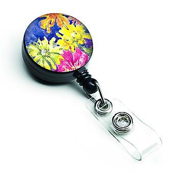 Caroline Sschätze Blume versenkbare Abzeichen Reel, multicolor (6122Br)