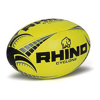 Rhino Cyclone  Rugby Ball Fluo Yellow - Size 5
