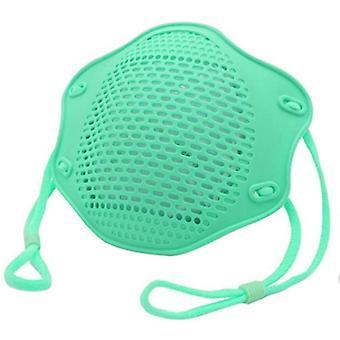 2Kpl vihreä kn95 suoja maski elintarvikelaatuinen silikoni naamio viisikerroksinen suodatin pölysuojamaski az10893