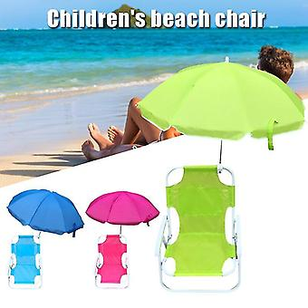Beach Chairs and Umbrellas Outdoor Beach Folding Multifunctional Portable Deck Chairs for
