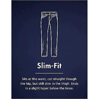Marke - Goodthreads Herren Slim-Fit Faltenfreies Comfort Stretch Kleid Chino Hose, Navy, 38W x 28L