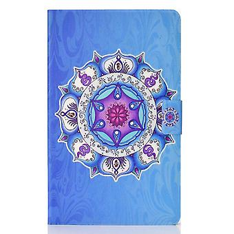 Case For Ipad 9 10.2 2021 Cover With Auto Sleep/wake Pattern Magnetic - Blue