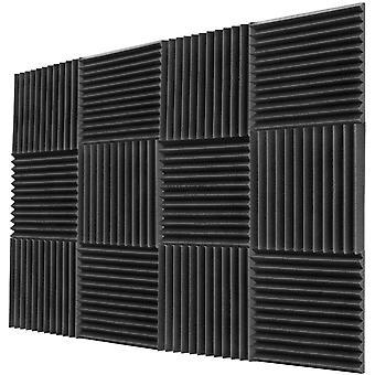 12PCS 300x300x25mm Acoustic Foam Sound Insulation Panels for KTV Bar Soundproofing Studio Wedges Sound Proof Wall Panels Espuma