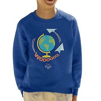 Blippi Travel The World Woooooo Kid's Sweatshirt