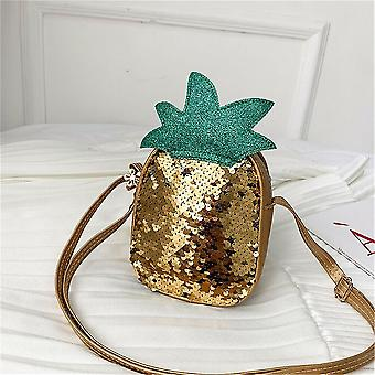 Pu Leather Sequin Style Strawberry And Pineapple Shape-cross Bags