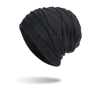 Winter Beanie Hat Knit Long Slouch With Soft Fleece Lining Outdoor Hat