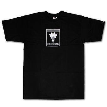Crooks & Castles Slanging T-shirt Black