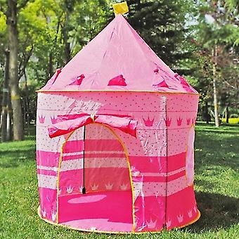 Indoor/Outdoor Children's Toys Gaming Play House Princess Castle Tent Gift for Children(pink)