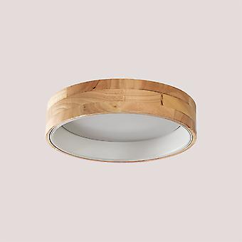 SKLUM LED plafondlamp Balto in hout en staal Hout Staal Wit