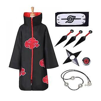 Köpeny Anime Cosplay Jelmezkészlet Itachi Robe Halloween Cosplay Cape-1
