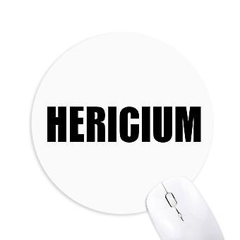 Hericium Vegetabilsk Navn Matvarer Rund Sklisikker Gummi Musematte Spill Kontor Musematte