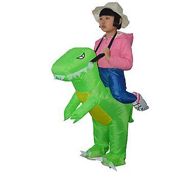 Children's Model In Soft Green (80-120cm) Yutube Same Dinosaur Inflatable Costume Halloween Costume
