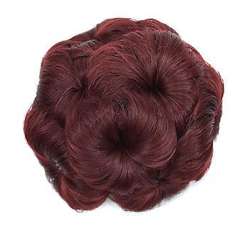 Волосы Бун парик Chignons для женщин Пончик Цветок волос булочка