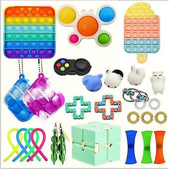 Sensory Decompression Toy Set Puzzle Diy Combination Toys -28