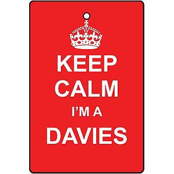 Keep Calm ik ben een luchtverfrisser Davies