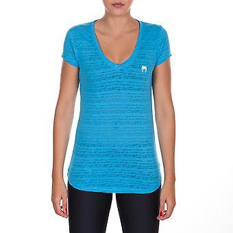 Venum naisten tärkeää kaula urheilullinen t-paita-sininen